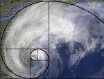 Fibonacci spiral hurricane Sandy