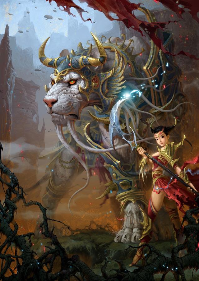 white tiger woman