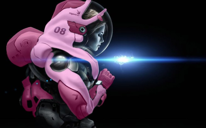 woman astronaut pink