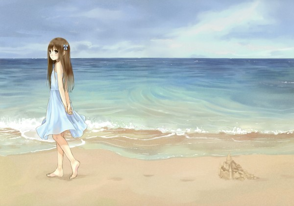 Sunken paradise thoughts of a taoist babe - Beach anime girl ...