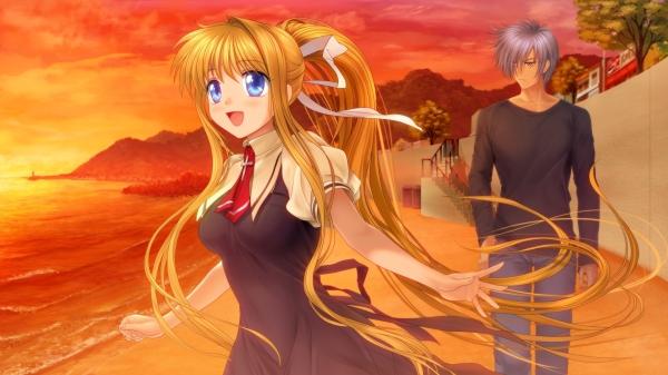 Anime-Girl-Boy-Beach